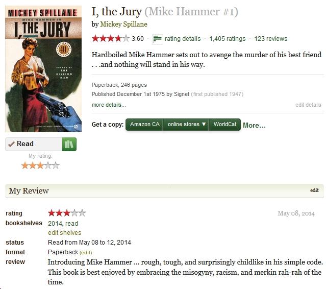 I, The Jury by Mickey Spillane